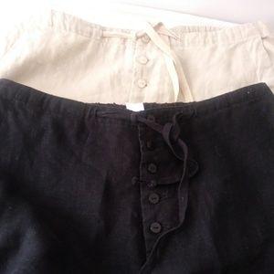 2 Pairs Of Chadwicks Linen Pants Sz 14 Tall